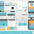 UI Flat Design Elements for Web and Infographics — Stock Vector