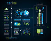 Timeline to display your data with Infographic elements — Vector de stock