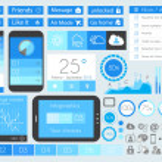 UI Flat Design Elements for Web, Infographics — Stock Vector #35013975
