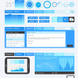 UI Flat Design Elements for Web, Infographics — Vettoriali Stock