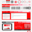UI Flat Design Elements for Web, Infographics — Stock Vector