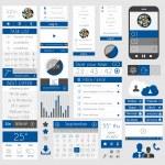 UI Flat Design Elements for Web, Infographics, — Stock Vector #35202689