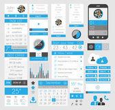 UI Flat Design Elements for Web, Infographics, — Stock Vector