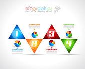 Modèle de conception infographique avec style plat moderne. — Vecteur
