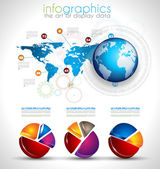 Collection of quality Infographics objects — Stock Vector