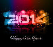 2014 New Year Colorful Background — Stock Vector