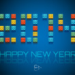 2014 Happy New Year background — Stock Vector