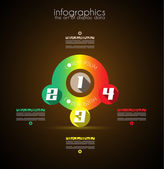 Infographic Design Template with modern flat style. — Stock Vector