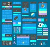 Plochý design prvky uživatelského rozhraní pro web, infografika, — Stock vektor