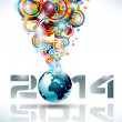 2014 Happy new year Party background — Stock Vector #36979123