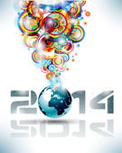 2014 Happy new year Party background — Stock Vector