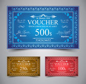 Elegant Voucher Design — Stock Vector