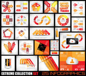 Extreme Collection of 25 quality Infographics background — Vettoriale Stock
