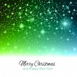 2014 Christmas Green Background with stars. — Stock Vector