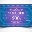 Voucher for 500 dollars payment. — Stock Vector