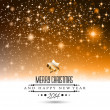 2014 Christmas gold Background — Vector de stock