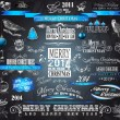 2014 Christmas Vintage typograph design elements: — Stock Vector