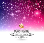 2014 Christmas Pink Background — Stock Vector