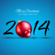 2014 Christmas and New Year Background — Stock Vector #37911433