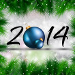 2014 Christmas and New Year Background — Stock Vector
