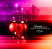 Valentine's Day template with stunning hearts — Stock Vector