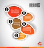 Infographic Design Template with modern flat style — Stockvector