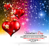 Valentine's Day template with stunning hearts — Cтоковый вектор