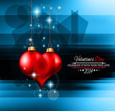 Valentine's Day template with stunning hearts — Vector de stock