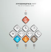 Infographic design template with paper tags. — 图库矢量图片