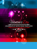 Valentine's Day template with stunning hearts — Stockvector