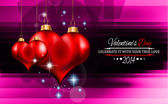 Valentine's Day template with stunning hearts — Stok Vektör