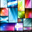 Abstract colorful background templates — Vecteur