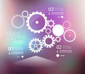 Infographic design template with gears. — Stock Vector