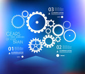 Infographic design template with gears — Stock Vector