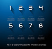 Original Style Infographics Templates — Stock Vector