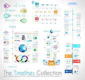 Timeline Infographic design template with paper tags. — Stock Vector