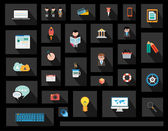 Flat Style UI Icons for business project — Stockvector