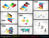 Collection of quality Infographic Templates. — Stock Vector