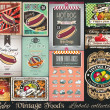 Retro Vintage Foods Labels collection. — Stock Vector #46404201