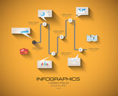 Modern Infographic template with Flat UI style — Stock Vector