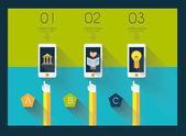 Flat UI design concepts infographics — Stock Vector