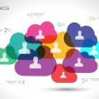Постер, плакат: Social Media and Cloud concept Infographic background