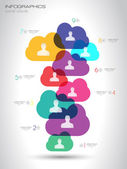 Social Media and Cloud concept Infographic background  — Stock Vector