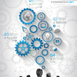 ������, ������: Social Media and Cloud concept Infographic