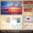 Travel Vintage Postcard Design — Stock Vector #47933959