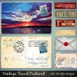 Travel Vintage Postcard Design — Stock Vector #47997881