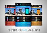 Sportovní web ui ploché šablony — Stock vektor
