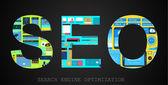 концепция оптимизации двигателя поиска seo — Cтоковый вектор
