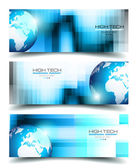 Banner Backgrounds for business card — Stock Vector