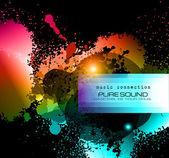 Partie dépliant du club pour l'événement de musique avec une explosion de couleurs — Vecteur